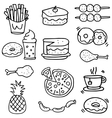 Doodle of food breakfast lunch or dinner vector image