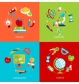 Education icons flat vector image vector image