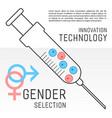 gender selection poster vector image