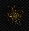 golden glitter explosion firework confetti vector image vector image