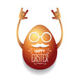 happy easter card with rock n roll egg vector image