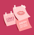 happy valentines day collection cute sticky vector image