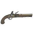 Historical handgun vector image vector image