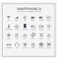 industry 40 and smart user interface icon set vector image vector image