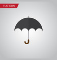 isolated umbrella flat icon parasol vector image