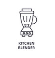 kitchen blender line icon outline sign linear vector image