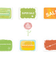 Labels on discounts and environmentally friendly vector image