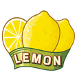 lemon label vector image vector image