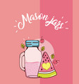 mason jars juice vector image