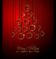 merry christmas background for your seasonal vector image vector image