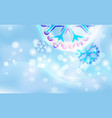 motley snowflake on a chaotic blur for christmas vector image vector image