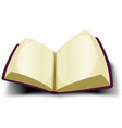 opened big book icon with blank pages vector image vector image