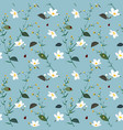 pastel seamless pattern with wild flower vector image vector image