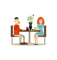 people and relations concept flat vector image