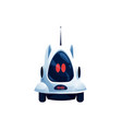 pet robot isolated robotic automation on wheels vector image