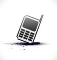 pixel phone vector image