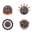 Pizzeria Restaurant Shop Design Element in Vintage vector image