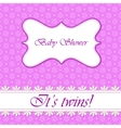 Polka dot flowers baby shower twins vector image vector image