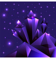 purple ametist cristal cartoon futuristic vector image