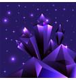 purple ametist cristal cartoon futuristic vector image vector image