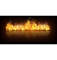 Realistic Fire Flame Banner vector image vector image