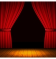 Red Curtain Composition vector image vector image