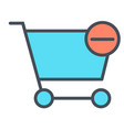remove items from shopping cart line icon 48x48 vector image vector image