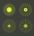 retro sun burst shapes vector image vector image