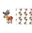 seamless background design with little gazelle vector image vector image