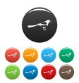 searching magpie icons set color vector image