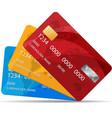 set premium credit cards vector image