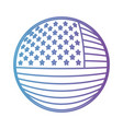 shield in circular shape with flag united states vector image vector image