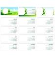 Table desk calendar 2016 Green template calendar vector image