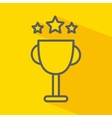 trophy with stars isolated icon design vector image vector image