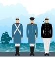 uniforms sailors tsarist vector image vector image