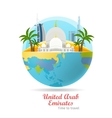 United Arab Emirates Travel Poster vector image vector image