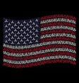 waving united states flag stylization of wmd nerve vector image vector image