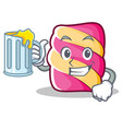 with juice marshmallow character cartoon style vector image