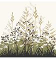 plants and grasses background vector image
