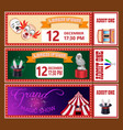circus show tickets templates with sample text vector image
