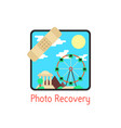 photo recovery with medical plaster vector image