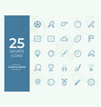 25 sports icon sports symbol modern simple vector image vector image