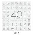 40 Thin Line Icons Set 4