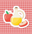 apple cider vinegar flat icon vector image vector image