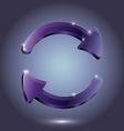 Arrow Glass pictogram refresh reload rotation loop vector image vector image