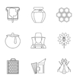 Beekeeping icons set outline style vector image vector image