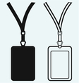 Blank badge with neckband vector image vector image