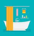 ceramic bathroom interior in vector image vector image