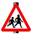 children traffic sign vector image vector image