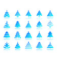 christmas tree simple gradient icons set vector image vector image